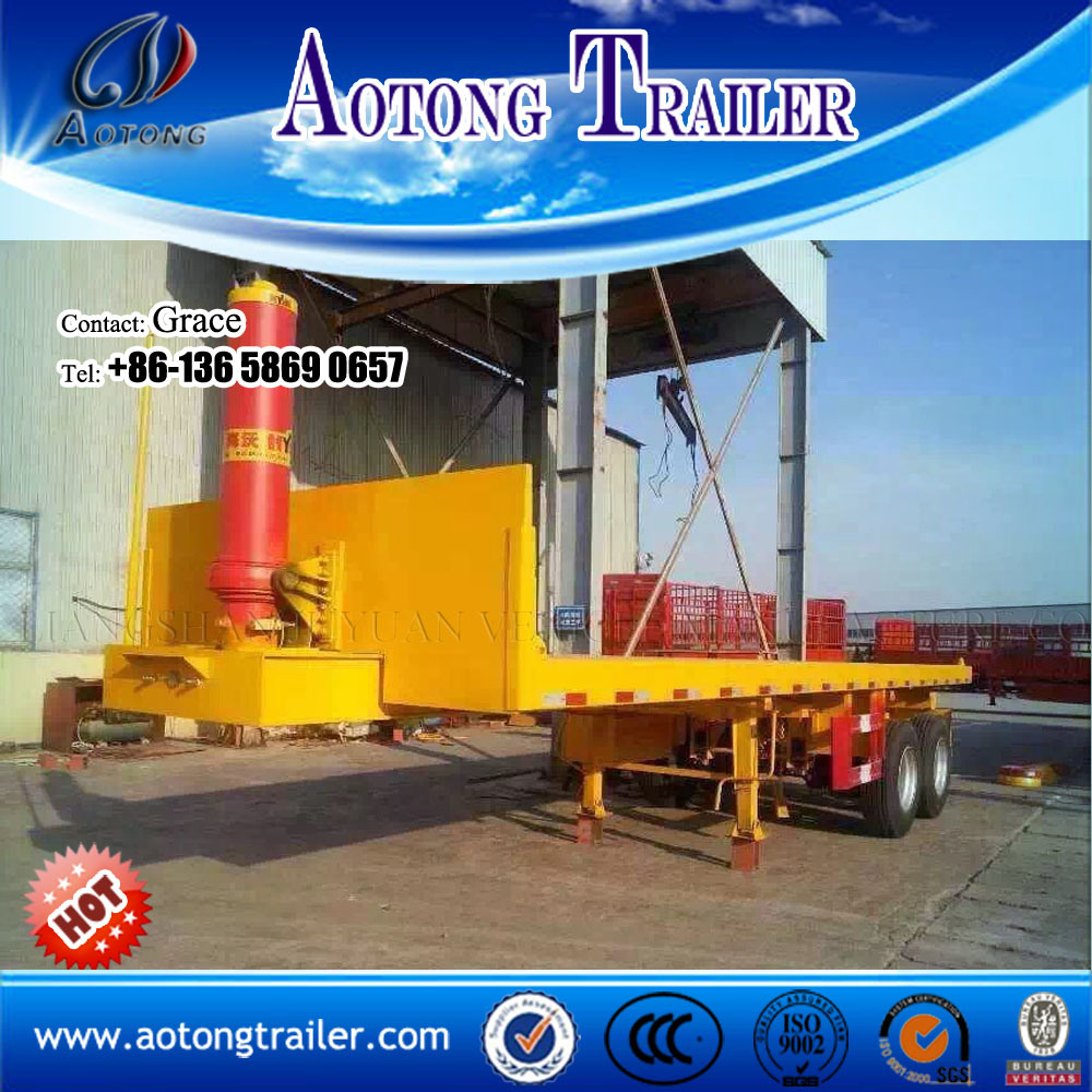 20feet 40FT Flatbed Tipping Co<em></em>ntainer Chassis Semi Trailer for Sale