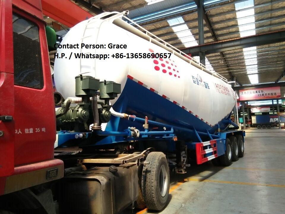 Cement Tanker, 28-73cbm Bulk Powder Cement Tanker Semi Trailer, Bulk Cement Tankers Truck for Sale
