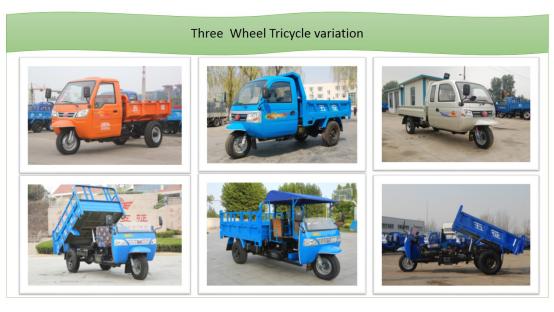 Wawcargo Diesel Motorized 3-Wheel Tricycle From China