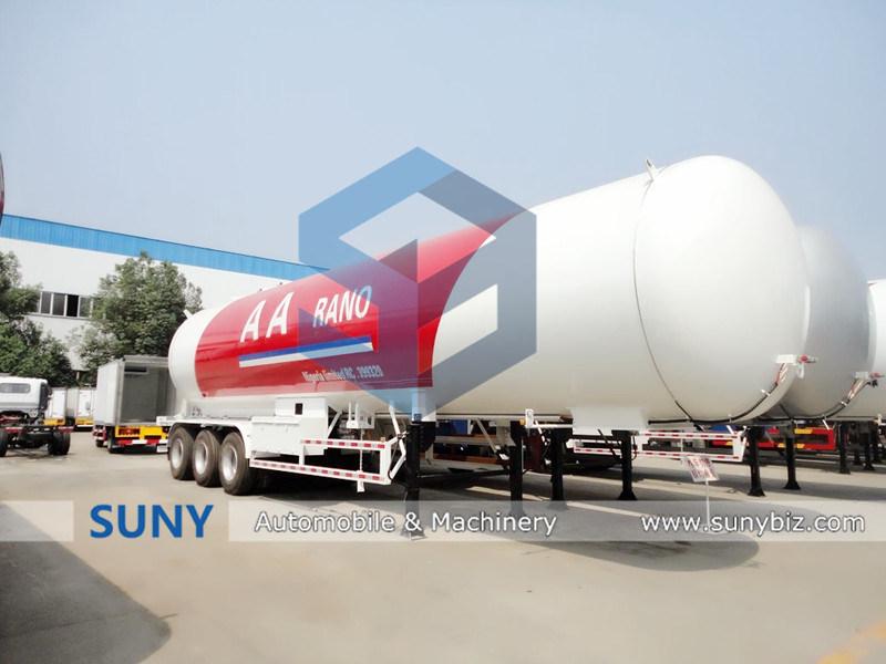 56m3 LPG Gas Tanker Semi Trailer with 3 Axle