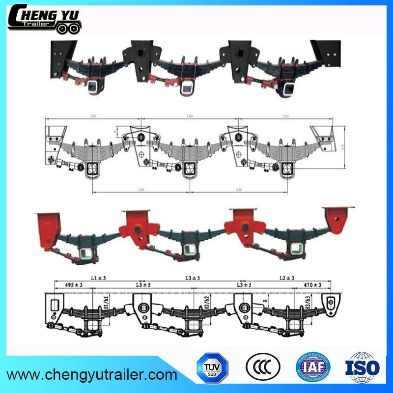 Fuwa Hendrickson 3 Axle Mechanical Semi Trailer Suspension