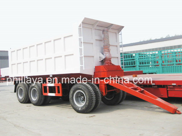 4 Axles Coal Transport Tipping Full Trailer with Drawbar