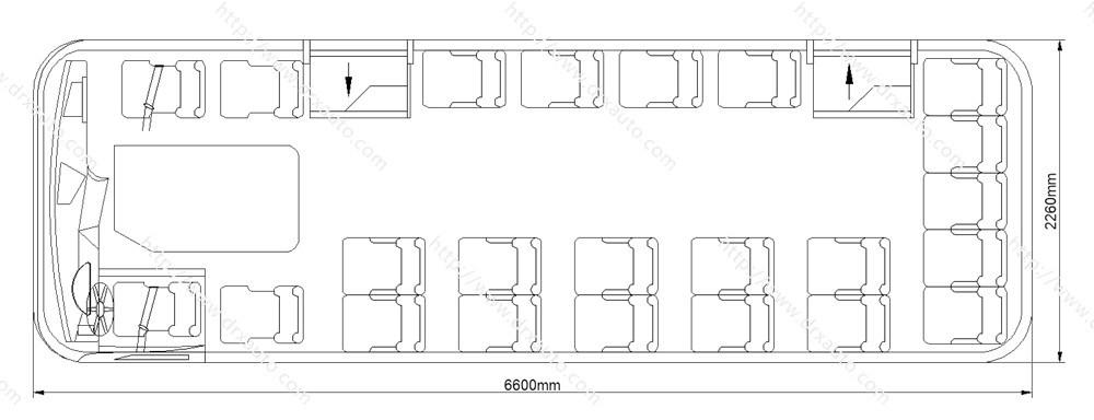 6.6 Meter 23 Seats Star Model Diesel Mini Bus