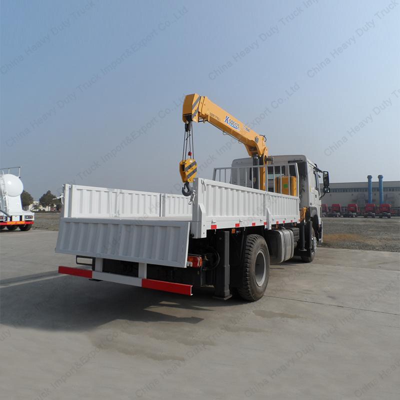 2axle 10-15m 4X2 HOWO Crane Mounted Truck