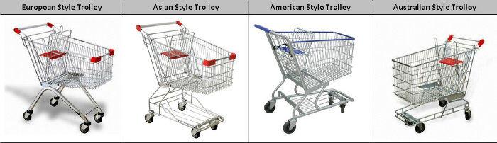 Retail Supermarket Shopping Cart Trolley