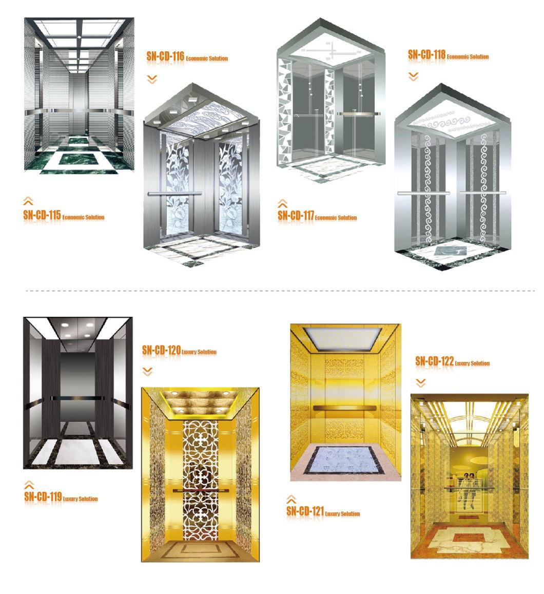 Mirror Stainless Steel Lift Passenger Elevator Cabin Eco<em></em>nomic / Luxury (SN-CD-115)