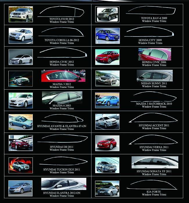 Hot Sale Auto Car Special Window f<em></em>rame Trims of Chery Tiggo