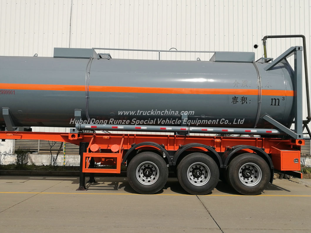 Lined Tank Co<em></em>ntainer for Road Transport 28kl Hydrochloric Acid HCl (max 35%) , Naoh, Naclo