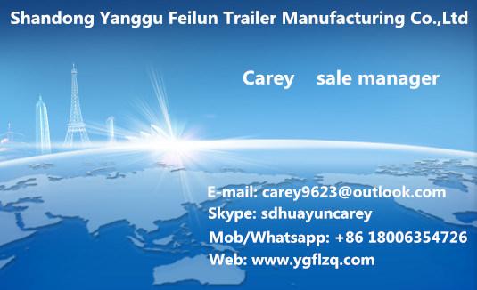 Carbon Steel 3 Axles Rear Dump Skeleton Semi Trailer for Co<em></em>ntainer Transport