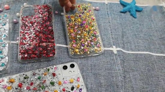 LuxuxRiverstones bunter Bling Bling Telefon-Deckel für iPhone 11 12