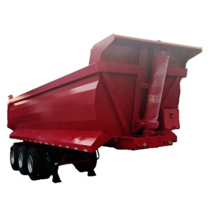 3 Axle Dump Semi Trailer Heavy Duty 45 60 Cubic Meter Tipper Rear U Shape Semi Dump Trailer Truck