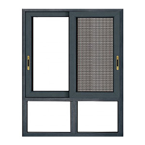 Ventilation Aluminium Sliding Metal Window/Fiberglass/Fly Screen Slide Windows/Fixed Glass with Mosquito Net