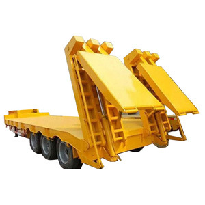 Carrier Three Axle 100 Ton Low Bed Trailer for Transporting Excavators