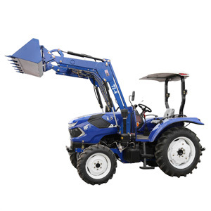 China Agricultural Machinery Manufacturer 60HP 4X4 Small Compact Garden Mini Farm Tractor with Front End Loader and Backhoe Attachment Price for Agriculture