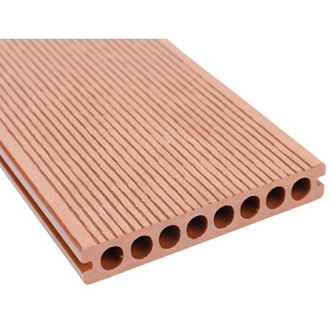 Deep 3D Wood Grain Fire Resistant Plastic Composite Outdoor Decking Hollow WPC Board