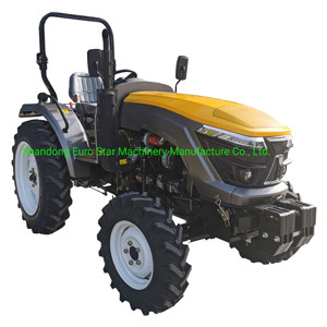 4WD Te604-P 60HP 2WD 4WD Mini Small Four Wheel Farm Crawler Tractor Orchard Paddy Lawn Big Garden Walking Diesel China Agricultural Machinery Tractor