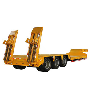 2/3/4 Axles 50/60/80/100 Tons Low Bed Lowboy Loader Drop Deck Heavy Duty Dolly Semi Trailer