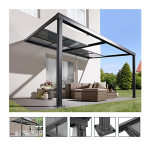 New Design Outdoor Retractable Roof Terrace Awning Cover Sliding System Patio Canopy