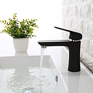 Sample Available Matte Black Brass Basin Faucet Watermark Approval From Kaiping Distributor