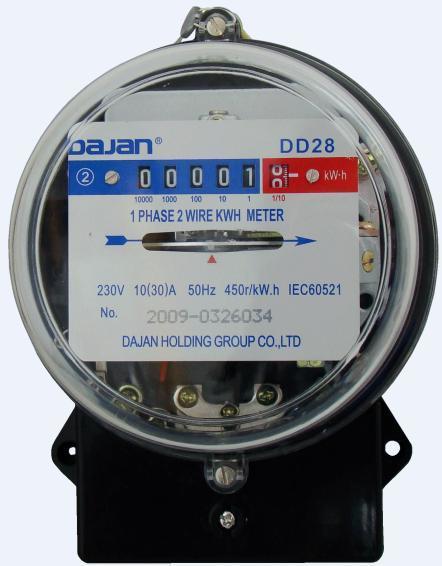 Kilowatt Usage Meter : Kwh meter dd china