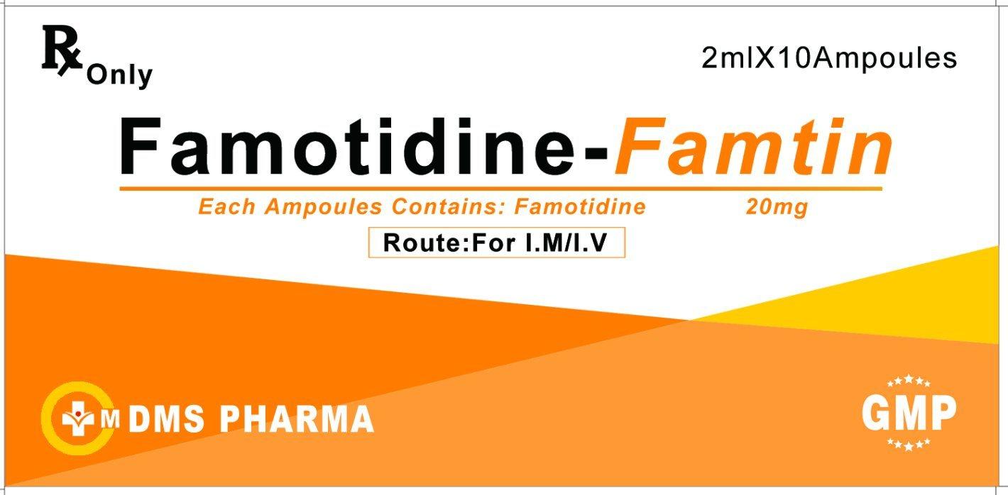 Anti-Ulcer Agent Famotidine Human Medicine 20mg/2ml