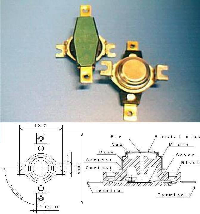 Thermostat (KSD301-40A)