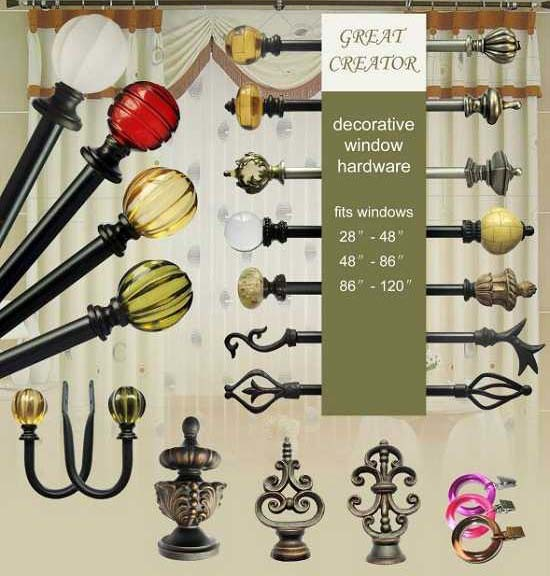 Crackled Glass Ball Curtain Pole Set by Swish from only £36.80