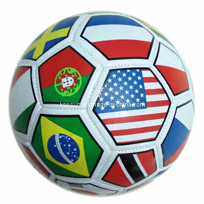 Machine Stitched with 32 Panels, Full Printing Soccer Ball /Football (SM5146)