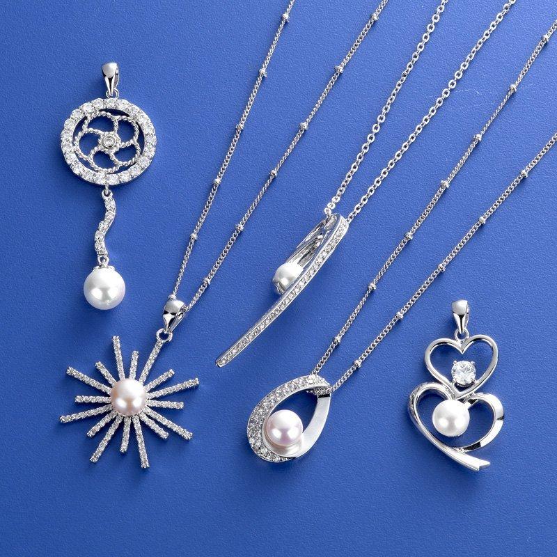 CZ Pearl Necklace Pendant