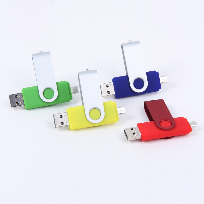 Colorful Swivel Android OTG USB Flash Drive 1GB-32GB Logo Cusomized Accepted (OM-P302)