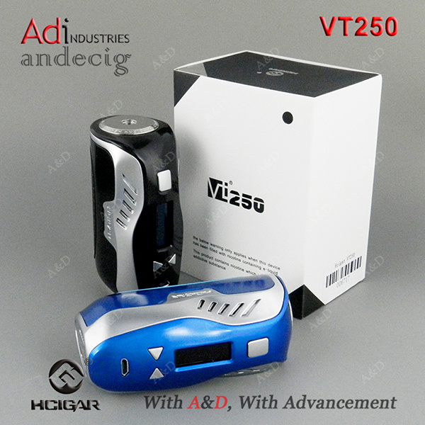 New Arrival Hcigar Vt250 DNA 250W Tc Box Mod