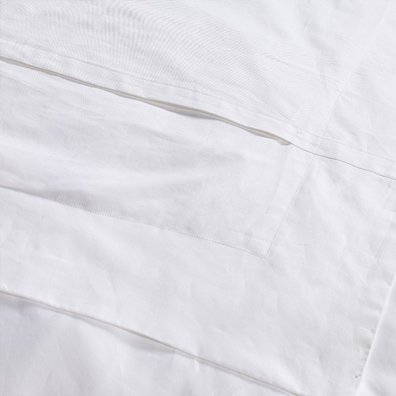 100% Cotton Satin Plain White Hotel Bedding Sets (DPF2475)