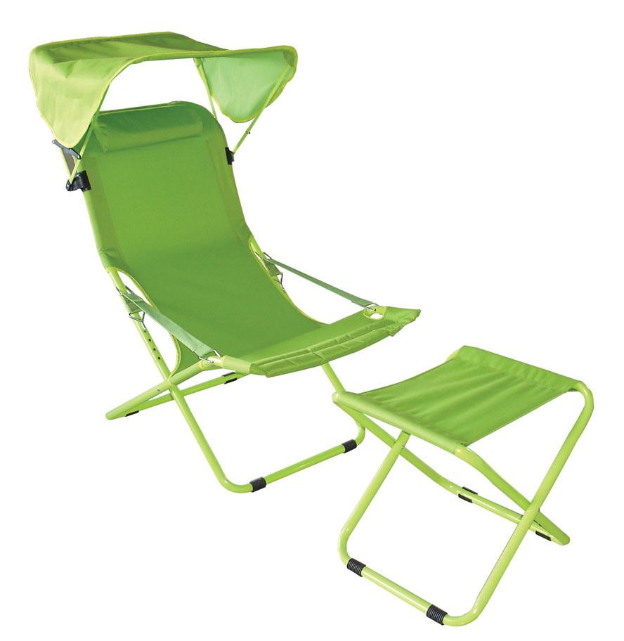 China Folding Chair W Ottoman STF China Beach chairs folding chairs
