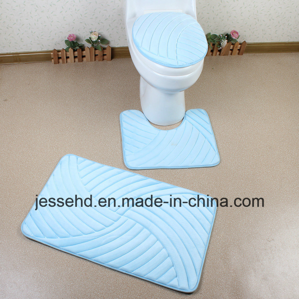 Waterproof and Anti-Slip Bath Mat 3PCS Bathroom Rug Set