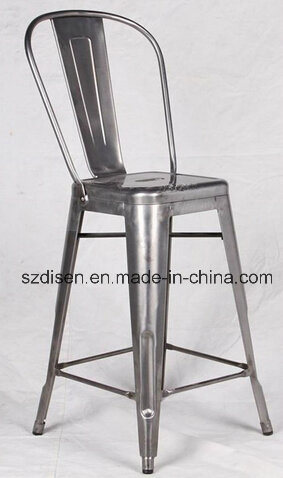 Metal Tolix Barstool with High Backrest (DS-M87)