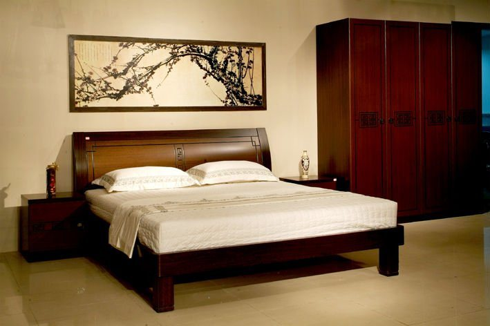 China New Classic Wooden Bedroom Furniture 808 China Wooden Bedroom Furniture Elegant Wooden