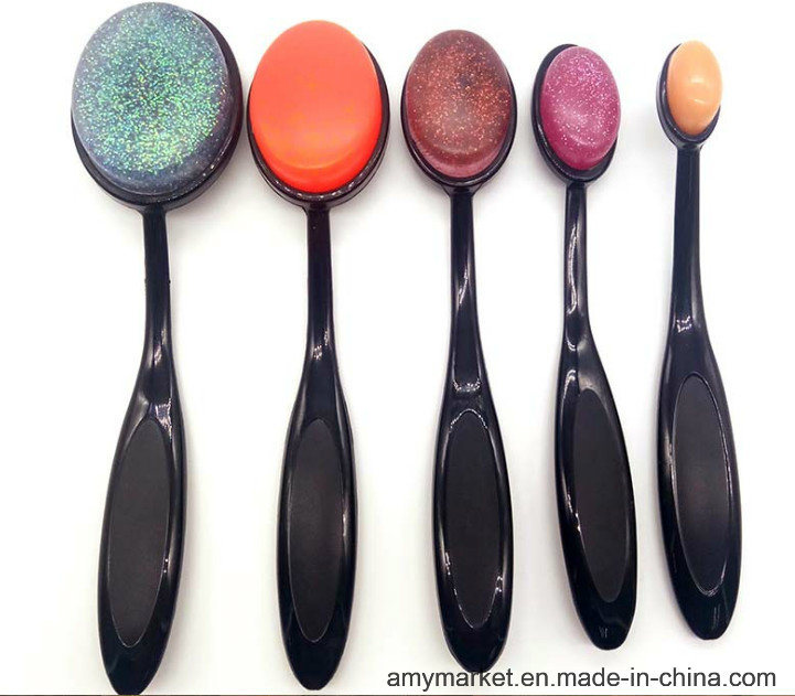 Latest New Environmental Make up Tool Silicone Powder Puff with Plastic Handle