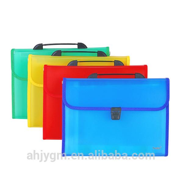 A4 13 Layers Transparent Color Expanding File/Expanding Bag