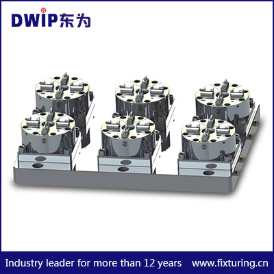 6 in 1 CNC Pneumatic Chuck D100 for Rapid Positioning Jig System
