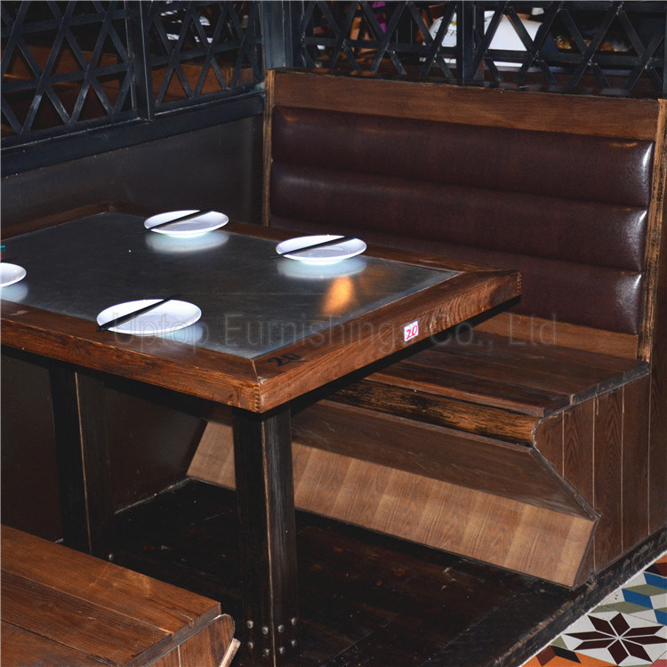 Vintage Bistro Restaurant Industrial Metal Cafe Table and Chair (SP-CS327)