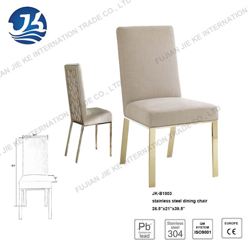 High-End Unique Upholstered Seat Dining Back Chair for Banquet and Wedding Hall