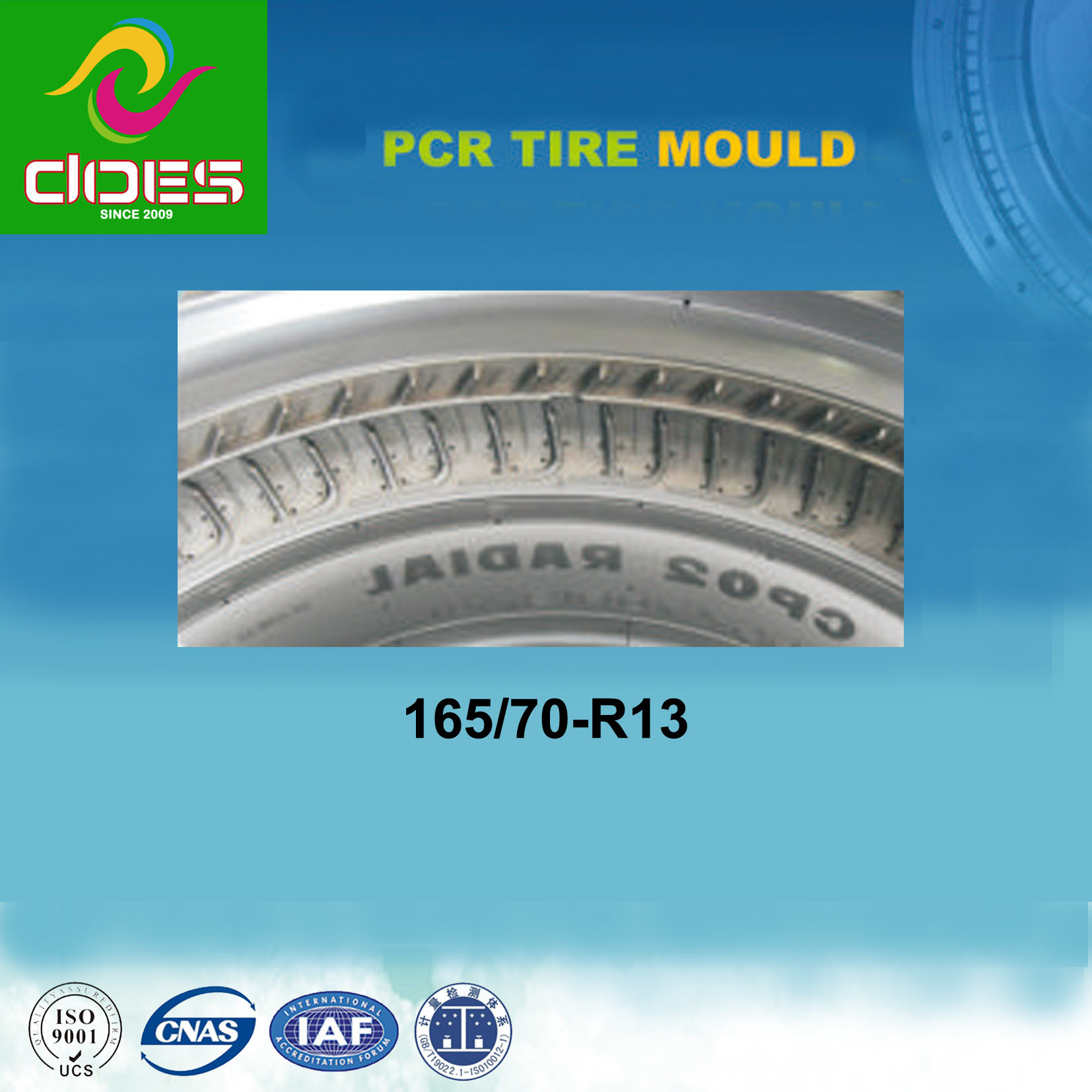 Tyre Mould for PCR Tubeless with 165/70-R13