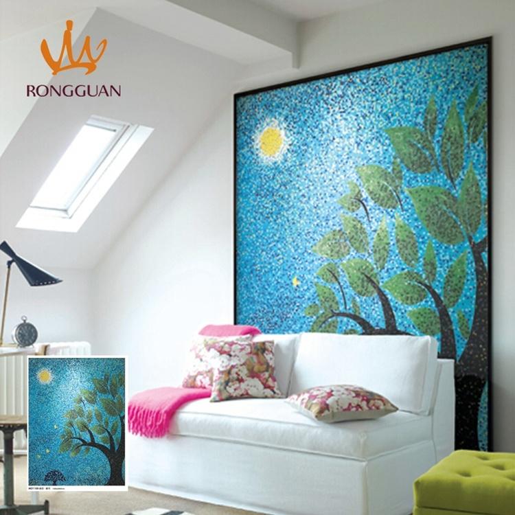 Hot Sale Foshan Hand-Cut Design Wall Art Mosaic Glass Mosaic