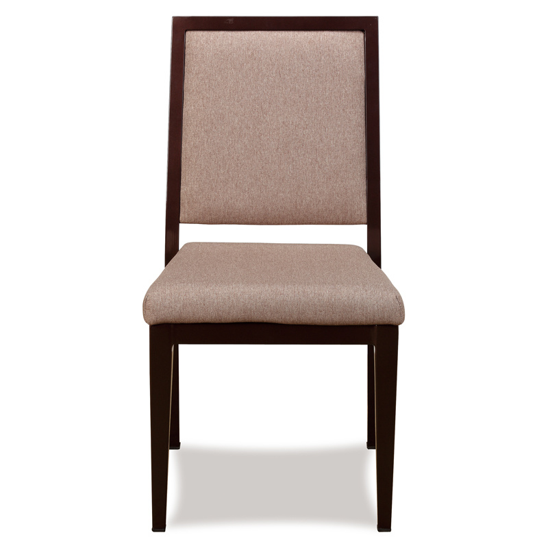Classy Wood Look Aluminum Restaurant Dining Chairs