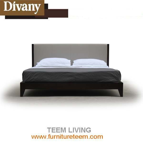 Modern New Design Fabric Leather Bed