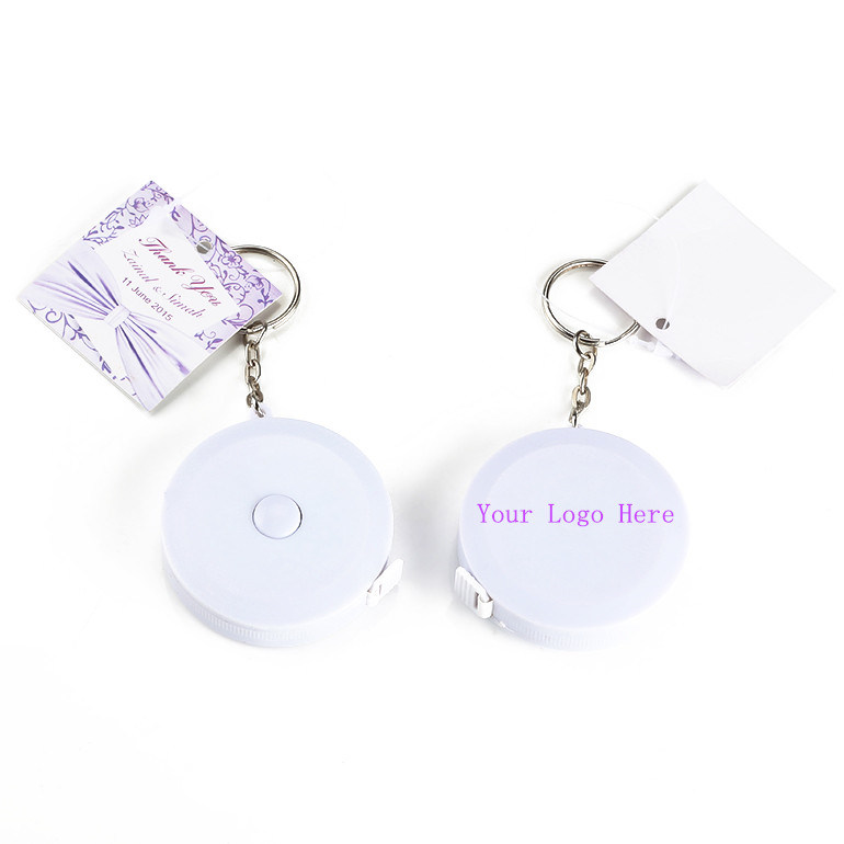 Pink Promotional Gift Key Chain Body Measuring Tape (RT-140)