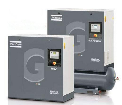 Atlas Copco Oil Injected Screw Air Compressor (GA37VSD GA45VSD GA55VSD GA75VSD GA90VSD)