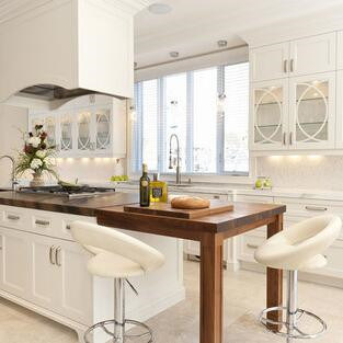 American Contemporary Solid Wood Kitchen
