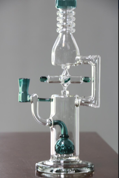 Rotatable Windmill Glass Water Pipe Oil Rigs Smoking Pipes