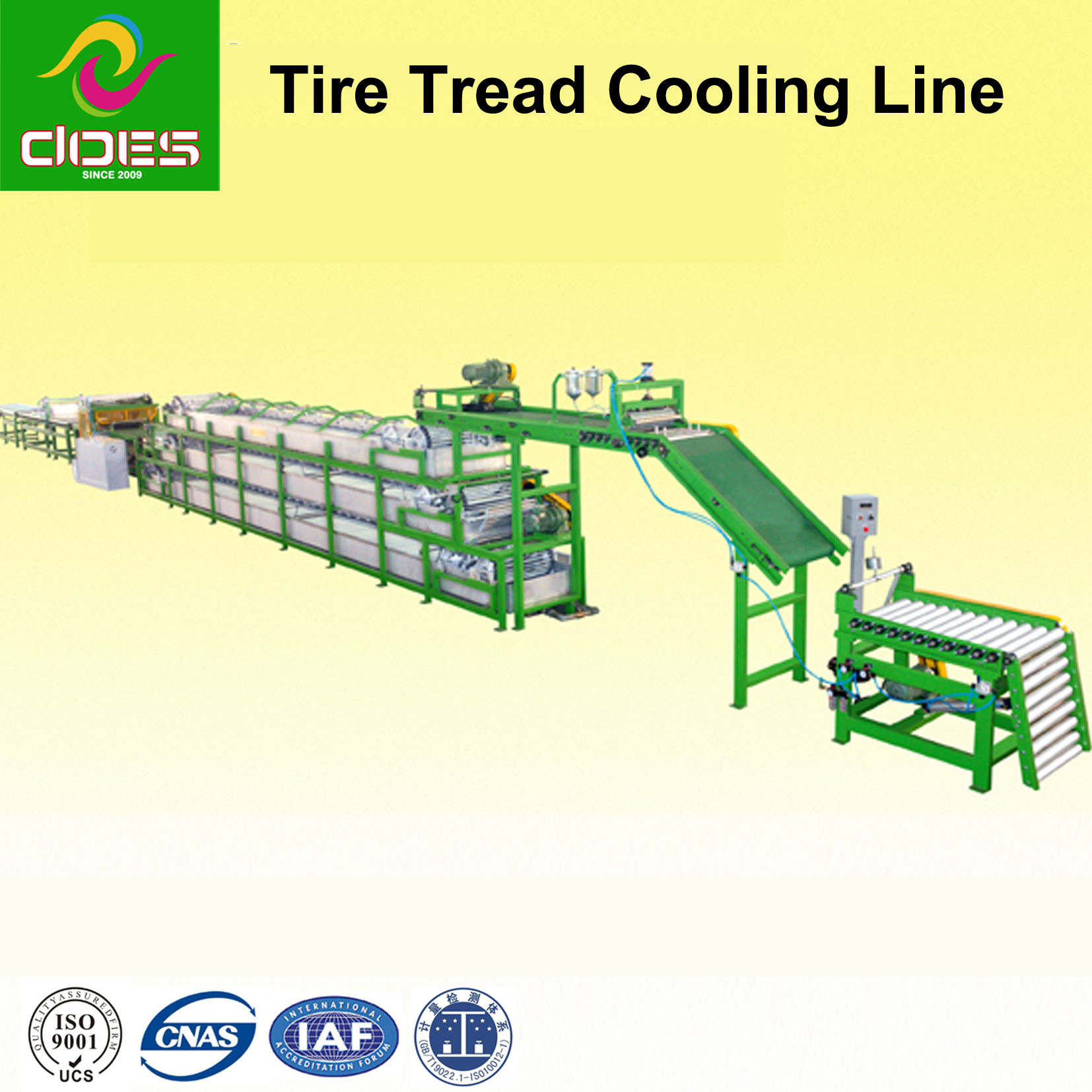 Spray and Immersion Cooling Line Machine for Tire Tread